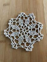 """12Pcs/Lot Vintage Hand Crochet Lace Doilies Coasters Cotton Small 4"""" Item3"""