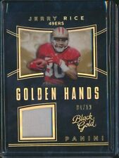 S 2018 BLACK GOLD GOLDEN HANDS /10 JERSEY RELIC JERRY RICE 49ERS