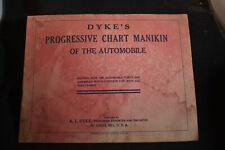 1915 Dykes Progressive Chart Manikin of the Automobile