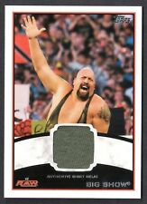 WWE 2012 (Topps) WHITE BORDER AUTHENTIC SHIRT RELIC Card: BIG SHOW