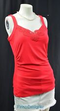 White House Black Market SEXY blouse cami tank Top tee knit falem red Size S NWT