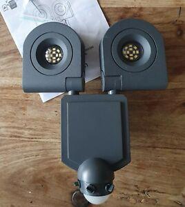 Dryden Security light with LED PIR Outdoors Motion Sensor Wall Light L3226XS-B