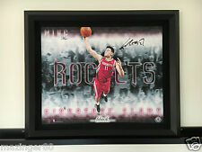 姚明 Yao Ming UDA Autographed Framed 20x25 Slams BLACK Edition Canvas 1/1 中國 China