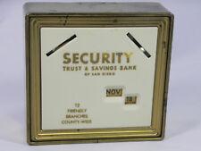 Vintage SAFE-COIN CALENDAR BANK Security Trust & Savings Bank San Diego CA