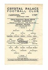 Crystal Palace v Watford Reserves Programme 26.11.1955