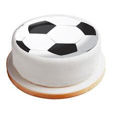 "Football / Soccer - 8"" Pre-Cut Round Cake Topper Premium Sugar Icing Sheet"