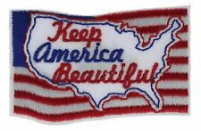 Keep America Beautiful 2 Inch Embroidered Hat Shoulder Patch F2D15O