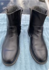 HABAND EXECUTIVE DIVISION BOOTS Leather Black Men's Size 9.5 GC