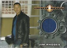 IRON MAN MOVIE COSTUME INSERT TERRENCE HOWARD JAMES RHODES T-SHIRT LIGHT BLUE