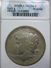 Anacs 1921 silver Peace dollar coin (#419c )