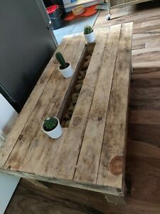 Planter Coffee table - Solid Wood - Planter Table Plants Decorative Storage