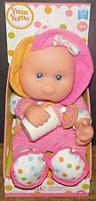 "Goldberger Plush pink 14"" doll Loll + bottle blue eyes Thumb sucker New Tags NIB"