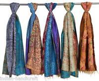 """10 Vintage Silk Kantha Fine Shawls Scarves Pashmina 35""""x70"""" Hand quilted SC45 U"""