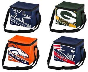 NFL Big Logo Stripe 6 Pack Cooler - Lunch Box - Pick your Team