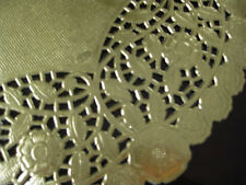 """10 pcs 12"""" INCH ROUND LARGE GOLD FOIL PAPER LACE DOILY CANADA WEDDING PLACEMATS"""