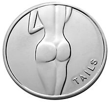 Lady Luck Heads Tails Good Luck Silver-Mirror Challenge Coin  Gift for Men