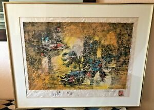 Hoi Lebadang Ooak Print Signed 93/250 Extra Images Framed Matted Cartouche
