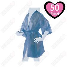 Kimono in TNT Nero Imbustato Singolarmente con Taschino e Cintura - 50 pz