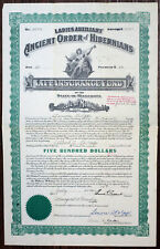 MN. Ladies Auxiliary Ancient Order of Hibernians Life Insurance Fund I/U Cert