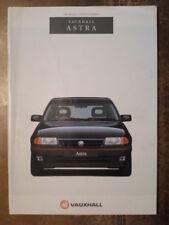 VAUXHALL ASTRA RANGE orig 1993 UK Mkt Prestige Sales Brochure - SRi GSi 16v