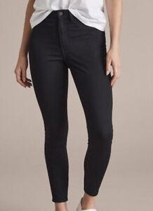Ladies size 18 Black high rise ankle length denim JEGGING jean Target LOLA  New