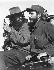 Fidel Castro and Camilo Cienfuegos Havana Cuba 1959 6x4 inches photo - Repro
