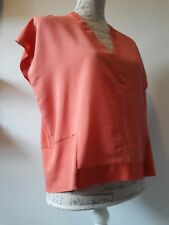 ZARA W&B Blouse Top Rust Coral Pink Size EUR S Good Condition