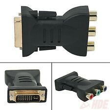 DVI-I 24+5 Male to 3 RCA Component Display Adapter PC HDTV Projector Connectors