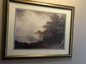 Quality Landscape Print In Antique Style Custom Frame