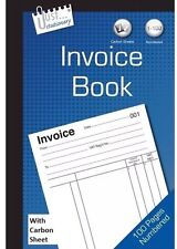 Full Size A5 Invoice Duplicate Receipt Book Numbered Cash 1 -80 Pages Pad New Uk