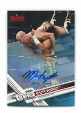 MATT HARDY 2017 Topps WWE THEN NOW FOREVER RAW Auto Autograph Blue 38/50
