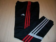 ADIDAS BLACK W/RED/GRAY STRIPES ATHLETIC PANTS BOYS LARGE 14-16 EXCELLENT