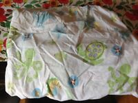 Pottery Barn Kids Octopus Fish Under Sea Ocean Turtle Cotton Crib Fitted Sheet