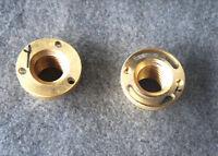 1Set (2pcs)Milling Machine Part-Longitudinal Brass Feed Nut Y Axis New