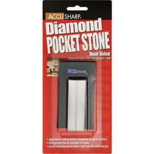 AccuSharp 027C 3 in. Diamond Pocket Stone with Pouch