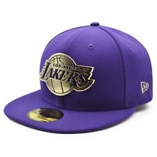 Los Angeles Lakers NBA The Metal Touch 59FIFTY Fitted Hat - Purple/Gold