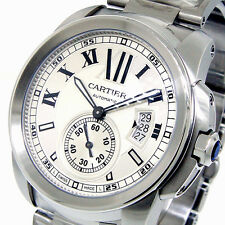 UNWORN CARTIER CALIBRE DE CARTIER W7100015 42 mm SILVER ROMAN STEEL W7100015