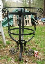 Antique Architectural Flower Garden Cast Iron Bird Bath Yard Art Water Basin Urn