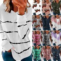 Womens Long Sleeve Hoodies Jumper Tops Ladies Sweatshirt Pullover Blouses A36