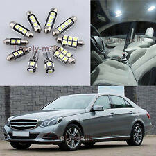 Error Free White Interior Light Package 10x for Mercedes E-Class W212 09-15 L7