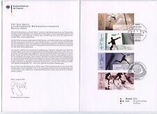 BRD Ersttagsbeleg  des Bundesfinanzministers  Für den Sport 2009 Leichtathletik