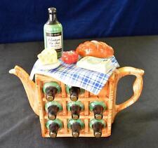 "Vintage 1992 SWINESIDE Ceramics England FRANCH PICNIC 10 1/2""h Teapot"