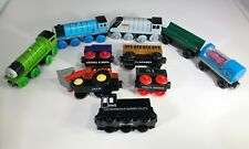 THOMAS & FRIENDS WOODEN RAILWAY LOT OF 10 CARS TOMY