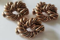 Vintage Faux Copper Plastic Knotted Rope Buttons Set