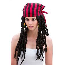 Pirate Buccaneer Beauty Wig Kit Fancy Dress Costume Accessory Adult Bandana Hair