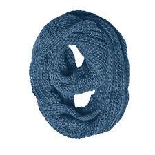 Winter Super Style Women Infinity Scarf Knitted Crochet Solid Warm Warp/Loop