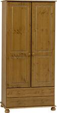 Steens Richmond Solid Pine 2 Drawer 2 Door Wardrobe