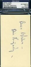 Bill Rigney Signed Psa/dna 3x5 Index Card Autograph Authentic