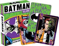 BATMAN VILLAINS - PLAYING CARD DECK - 52 CARDS NEW - JOKER DC COMICS 52265