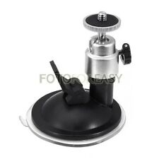 Suction Cup Ballhead Mount Tripod Holder For Car Window Screen DVR DV GPS Camera